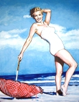 Norma Jean on the beach 2
